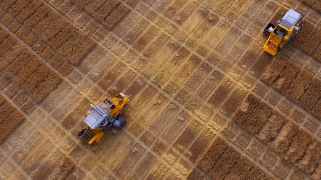 Trials Equipment combine harvesters